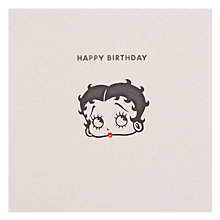 Buy Hype Betty Boop Kicking Birthday Card Online at johnlewis.com