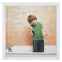 Buy Icon Insanity Birthday Card Online at johnlewis.com