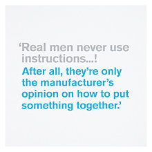 Buy Icon Real Men Birthday Card Online at johnlewis.com