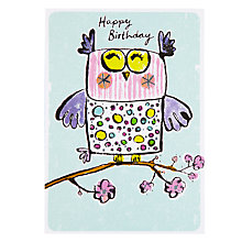 Buy Paper Rose Owl Birthday Card Online at johnlewis.com