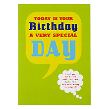 Buy Loveday Designs Today is Your Birthday Greeting Card Online at johnlewis.com