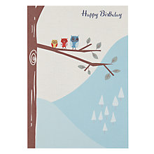 Buy Saffron Three Little Owls Birthday Card Online at johnlewis.com