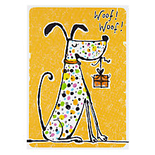 Buy Paper Rose Dog Birthday Card Online at johnlewis.com