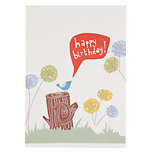 Buy Saffron Hello Little Bird Birthday Card Online at johnlewis.com