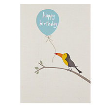Buy Saffron Toucan Birthday Card Online at johnlewis.com