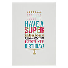 Buy Pigment Super Fabulous Cake Birthday Card Online at johnlewis.com