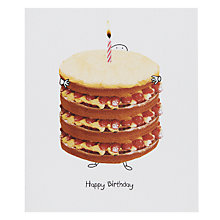 Buy Portfolio Giant Cream Cake Birthday Card Online at johnlewis.com