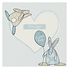 Buy The Little Dog Laughed Heart Boy New Baby Card Online at johnlewis.com