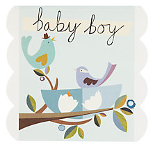 Buy Caroline Gardner Baby Boy New Baby Card Online at johnlewis.com