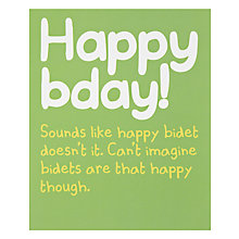 Buy Really Good Happy Birthday Card Online at johnlewis.com