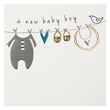 Buy Belly Button Designs Boy New Baby Card Online at johnlewis.com