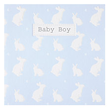 Buy Saffron Rabbits Blue New Baby Card Online at johnlewis.com