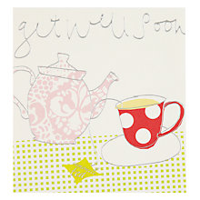 Buy Caroline Gardner Tea Get Well Soon Card Online at johnlewis.com