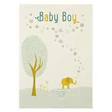 Buy Velvet Olive Baby Boy New Baby Card Online at johnlewis.com