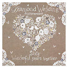 Buy Hammond Gower Diamond Anniversary Card Online at johnlewis.com