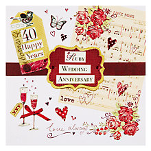 Buy Mint Ruby Anniversary Card Online at johnlewis.com