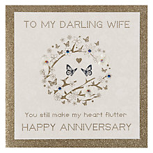 Buy Five Dollar Shake Darling Wife Anniversary Card Online at johnlewis.com
