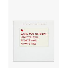 Buy Susan O'Hanlon Fill in the Blanks Anniversary Card Online at johnlewis.com