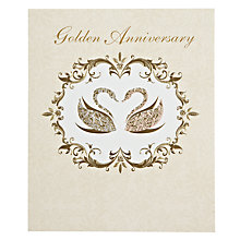 Buy Woodmansterne Two Swans 50th Anniversary Card Online at johnlewis.com
