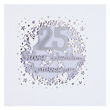 Buy Paperlink 25th Wedding Anniversary Card Online at johnlewis.com