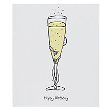 Buy Portfolio Bubbly Birthday Card Online at johnlewis.com