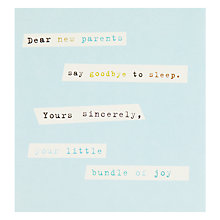 Buy Caroline Gardner New Parents New Baby Card Online at johnlewis.com