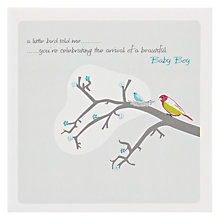 Buy The Art Rooms Little Bird Boy New Baby Card Online at johnlewis.com