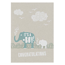 Buy Velvet Olive It's A Boy New Baby Card Online at johnlewis.com