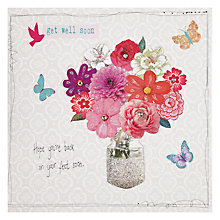 Buy Hammond Gower Vase of Flowers Get Well Card Online at johnlewis.com