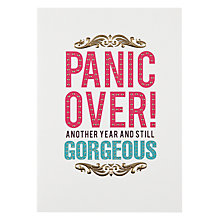 Buy Pigment Panic Over Birthday Card Online at johnlewis.com