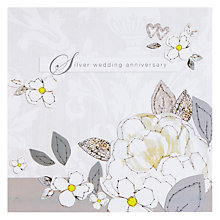 Buy Black Olive 25th Wedding Anniversary Card Online at johnlewis.com