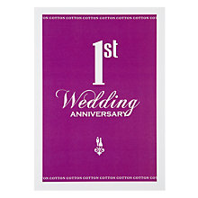 Buy Loveday Designs 1st Wedding Anniversary Card Online at johnlewis.com