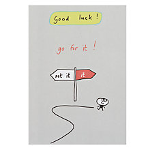 Buy Paperlink Go For It! Good Luck Card Online at johnlewis.com