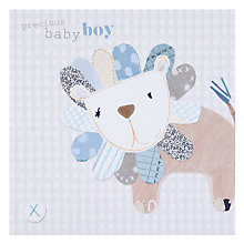 Buy Black Olive Baby Lion New Baby Card Online at johnlewis.com