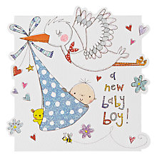 Buy Rachel Ellen Cuckoo Boy New Baby Card Online at johnlewis.com