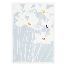 Buy Art Press White Flowers Sympathy Card Online at johnlewis.com