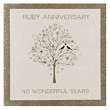 Buy Five Dollar Shake Ruby Anniversary Card Online at johnlewis.com