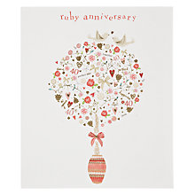 Buy Woodmansterne Red Tree Ruby Anniversary Card Online at johnlewis.com