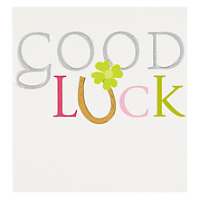 Buy Caroline Gardner Green Clover Good Luck Card Online at johnlewis.com