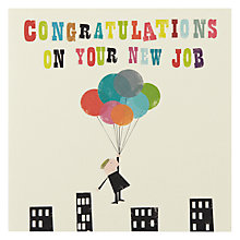 Buy Art File Congratulations on Your New New Job Card Online at johnlewis.com