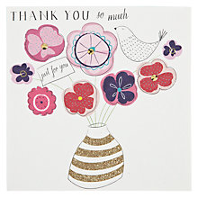 Buy Belly Button Designs Thank You Card Online at johnlewis.com