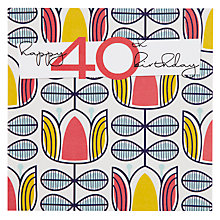Buy Black Olive 40th Birthday Card Online at johnlewis.com