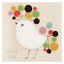 Buy Woodmansterne Bird With Colourful Head Thank You Card Online at johnlewis.com