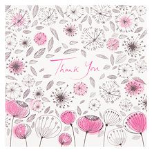 Buy Woodmansterne Dandelion and Flower Thank You Card Online at johnlewis.com