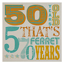 Buy Velvet Olive 50th Birthday Card Online at johnlewis.com