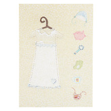 Buy Art Press Outfit Christening Card Online at johnlewis.com