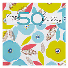Buy Black Olive 50th Birthday Card Online at johnlewis.com