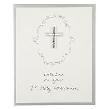 Buy Saffron First Holy Communion Card Online at johnlewis.com