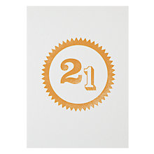 Buy Loveday Designs 21st Birthday Card Online at johnlewis.com