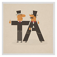Buy Urban Graphic Ta! Thank You Card Online at johnlewis.com